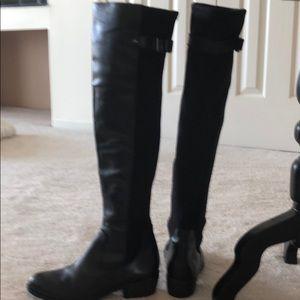 Black boots, high cut